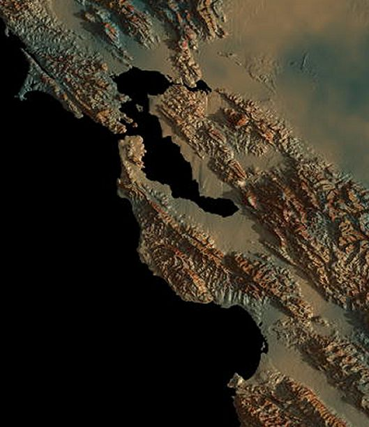 relief map of San Francisco