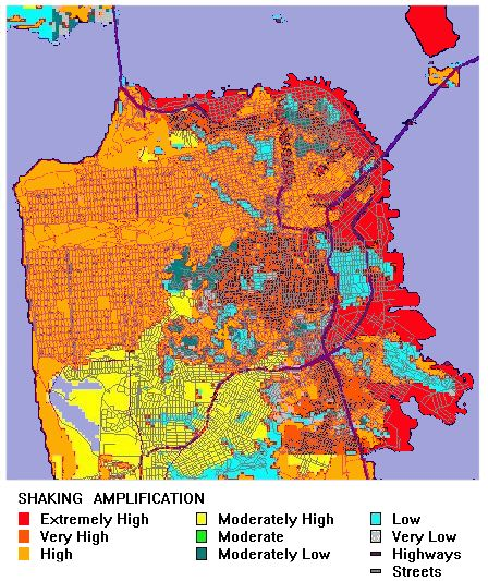 San Francisco Earthquake Map Risk